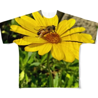 蜂と花 Full graphic T-shirts