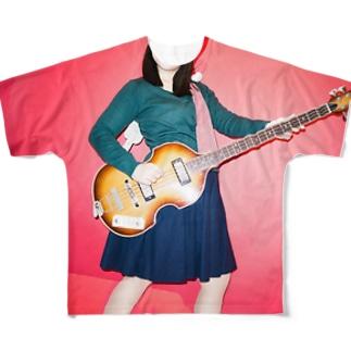 ヴァイオリンベース Full graphic T-shirts