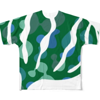 greensxart フルグラフィックTシャツ