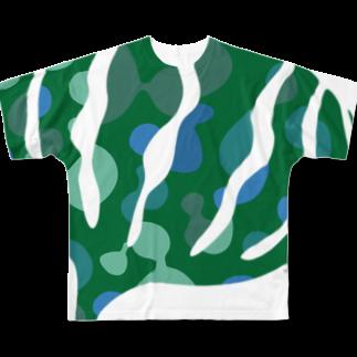 Katsuのgreensxart フルグラフィックTシャツ