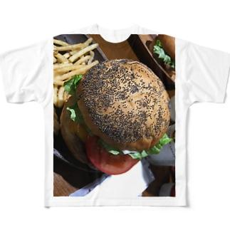 虫の卵バーガー Full graphic T-shirts