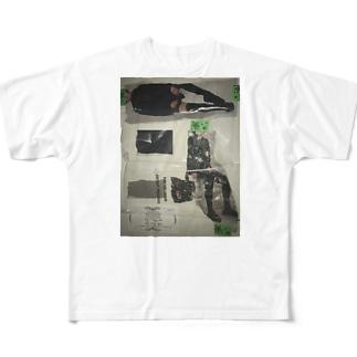 のっぺらぼう女 Full graphic T-shirts