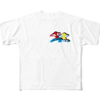 波が呼んでる カラー フルグラフィックTシャツ