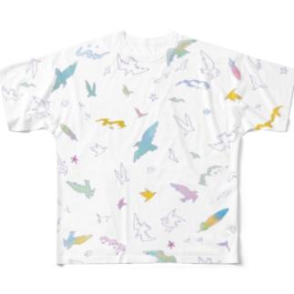 Summer Bird フルグラフィックTシャツ