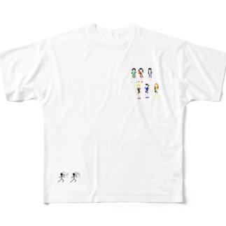でんぱ Full graphic T-shirts