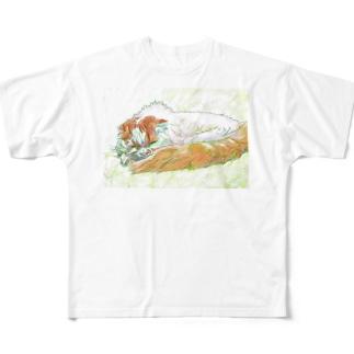 ねむねむにゃんこ Full graphic T-shirts