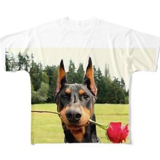 ドーベルマン Full graphic T-shirts