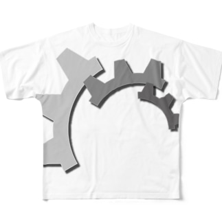 歯車 フルグラフィックTシャツ