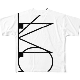 L.M.O.ロゴ(縦バージョン) Full graphic T-shirts
