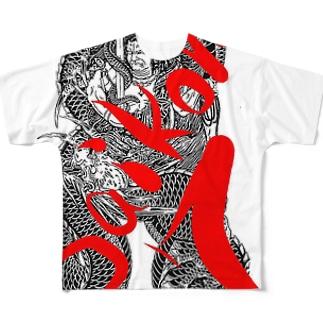 saikoro7刺青コラボ#1 フルグラフィックTシャツ