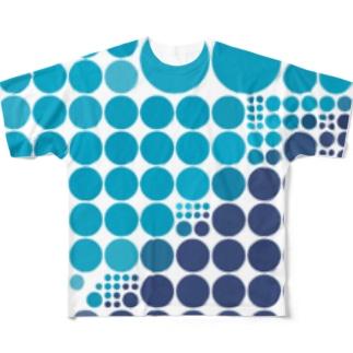 暑いから水玉にしてみよう フルグラフィックTシャツ