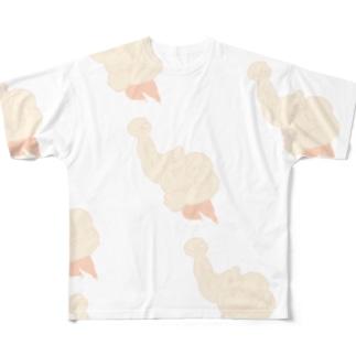 はむまっしょ柄 フルグラフィックTシャツ