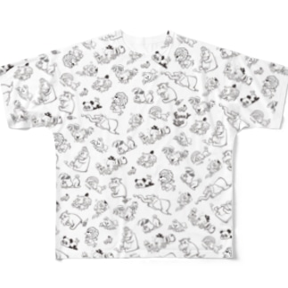FUNKY ZOO -mono tone t-shirt- フルグラフィックTシャツ