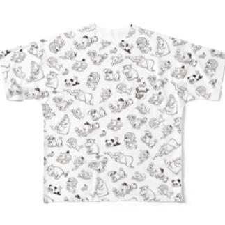 FUNKY ZOO -mono tone t-shirt- Full graphic T-shirts