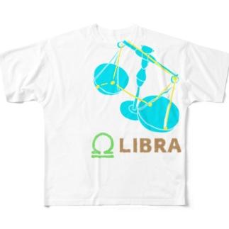 天秤座グッズ フルグラフィックTシャツ