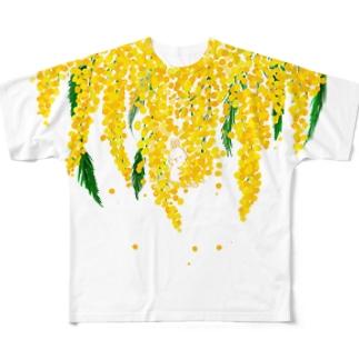 うさぎとミモザ Full graphic T-shirts