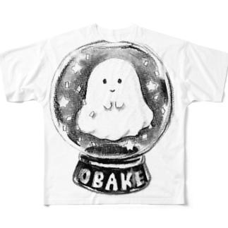 オバケちゃんのスノードーム Full graphic T-shirts