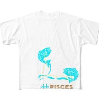 魚座グッズ フルグラフィックTシャツ