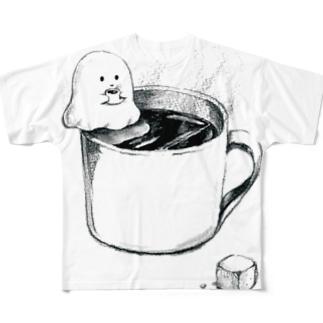 オバケちゃんの休憩 フルグラフィックTシャツ