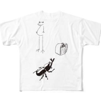 わくわくなつ休みシリーズ Full graphic T-shirts