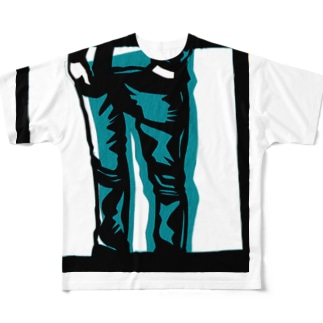 デニム Full graphic T-shirts