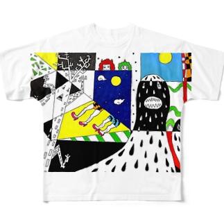 シャドーMonsterと鬼っ子 Full graphic T-shirts