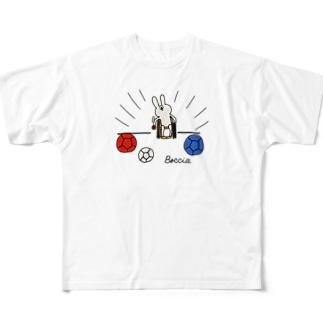 ボッチャ!スロー(投球) Full graphic T-shirts