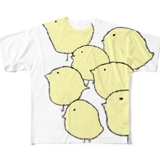 群れ Full graphic T-shirts