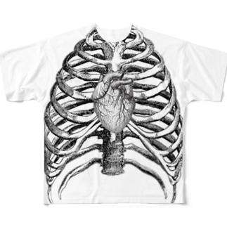 ボーンT Full graphic T-shirts