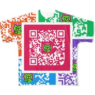 股間で日本を盛り上げ隊たいちょーQRコード Full graphic T-shirts