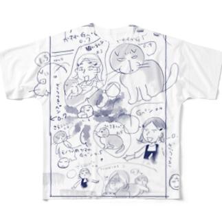 かめしがき青 フルグラフィックTシャツ