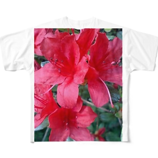 引き立つ赤さ Full graphic T-shirts