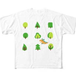 woods and dragon フルグラフィックTシャツ