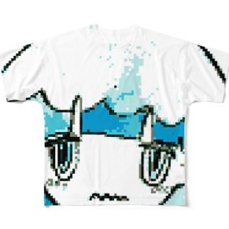 ドットきのちゃん Full graphic T-shirts
