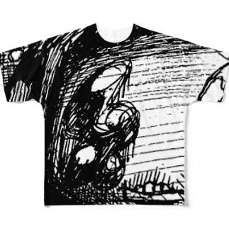 サブカルうるうる女の子 Full graphic T-shirts
