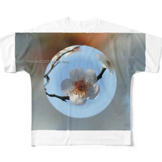 光景 sight737 梅  花 FLOWERS  宙玉(そらたま) フルグラフィックTシャツ
