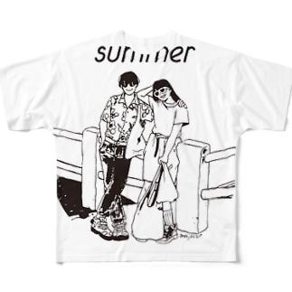 じゃ、夏なんで Full graphic T-shirts