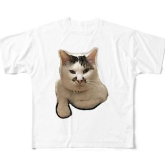 家ネコのまろん Full graphic T-shirts