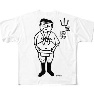 山笠男 Full graphic T-shirts