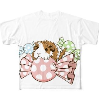 キャンディとモルモット(透過) フルグラフィックTシャツ