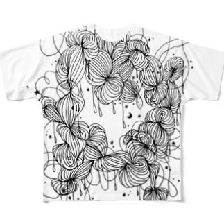 night sky フルグラフィックTシャツ