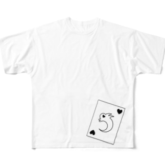 RABBIT CARD ver.1 Full graphic T-shirts