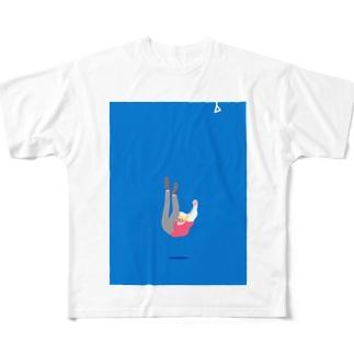 落ちちゃう男の子 Full graphic T-shirts