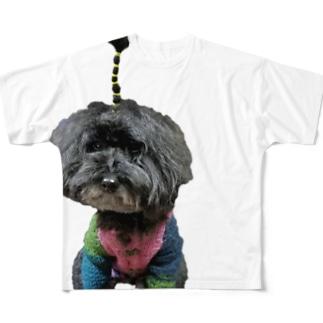 ちょんまげヒュー Full graphic T-shirts