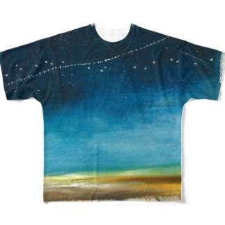 銀河鉄道T Full graphic T-shirts