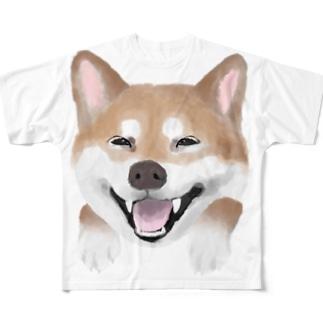 ラブ柴❤️ フルグラフィックTシャツ
