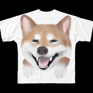 cheeのラブ柴❤️ フルグラフィックTシャツ
