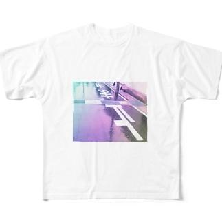 止まれ フルグラフィックTシャツ