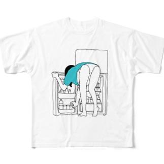 パンイチの女の子 Full graphic T-shirts