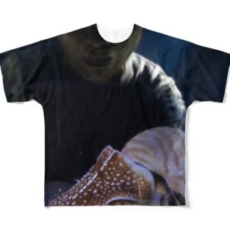 オウム貝と怪しいおやぢ Full graphic T-shirts
